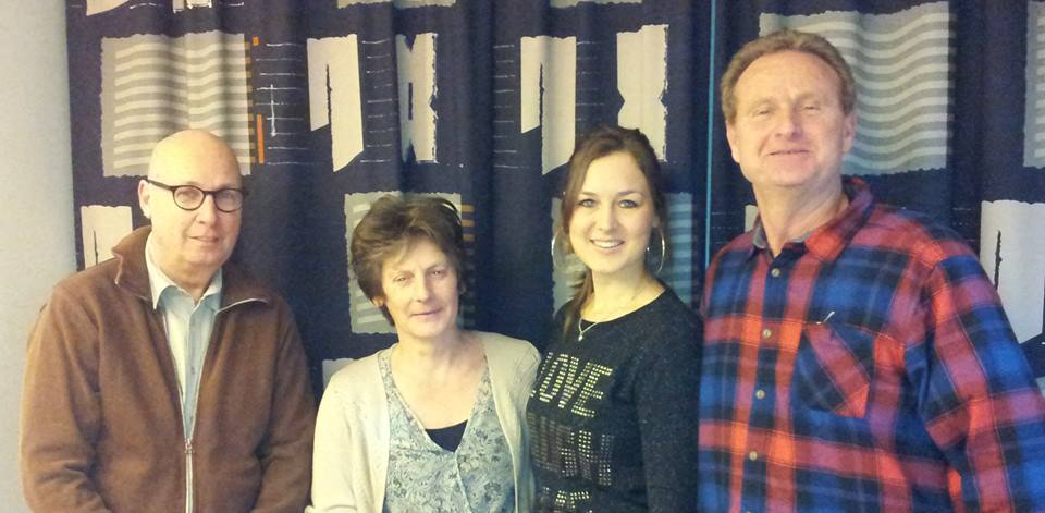 Dirk, Laura, Joyce en Martin msgroep