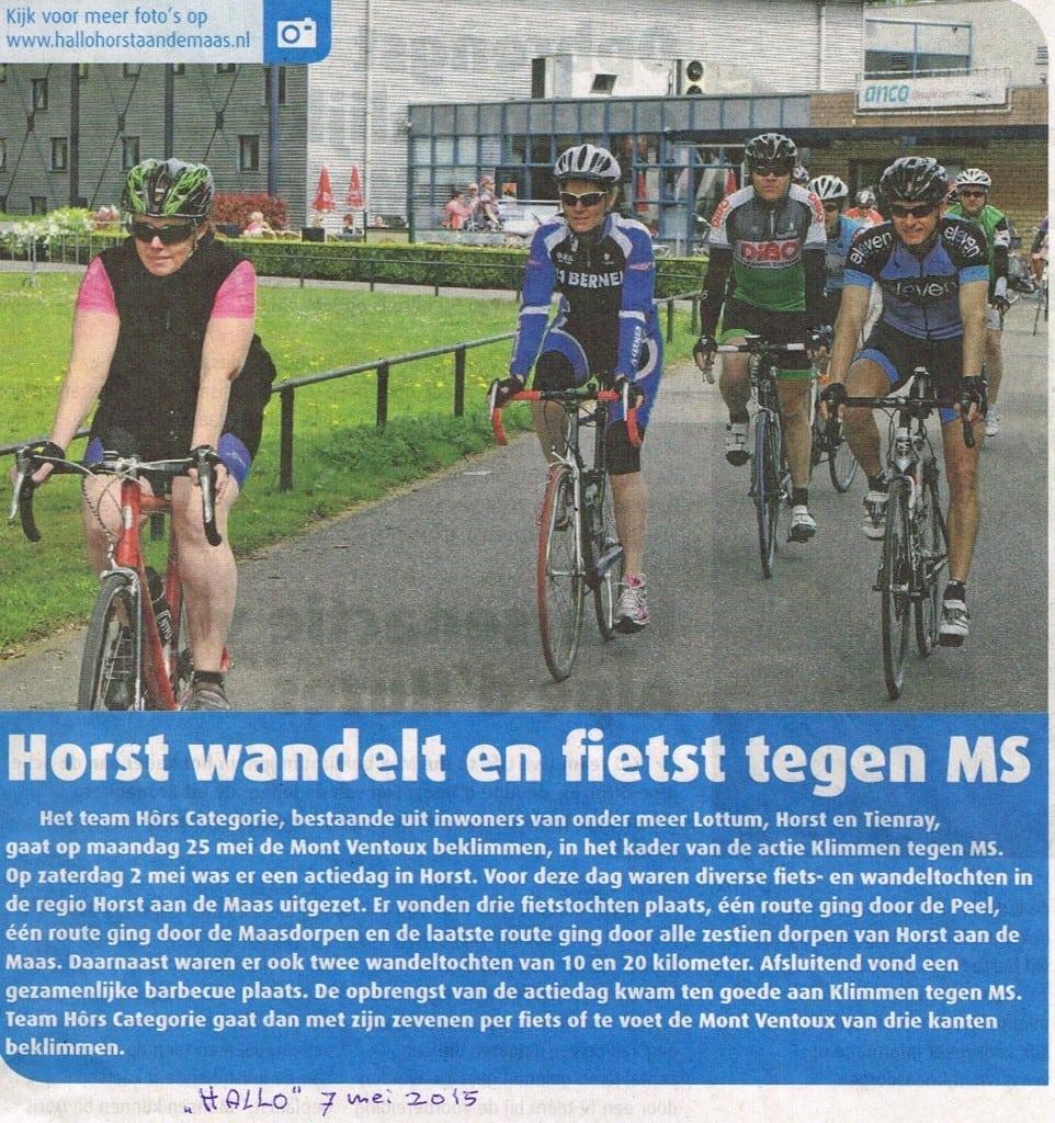 Fietsen MS Horst 2015
