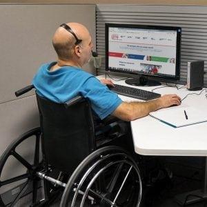 MS en werk computer beperkt aan het werk