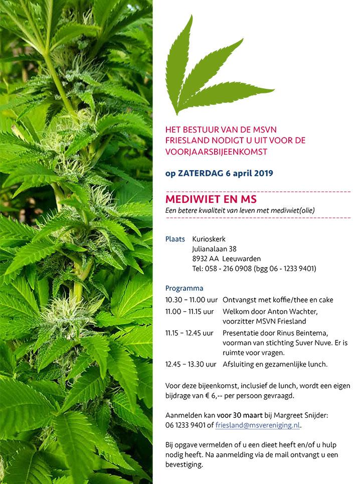 Uitnodiging bijeenkomst Mediwiet en MS
