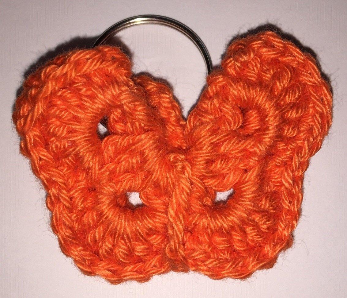 Vlinder-sleutelhanger Oranje